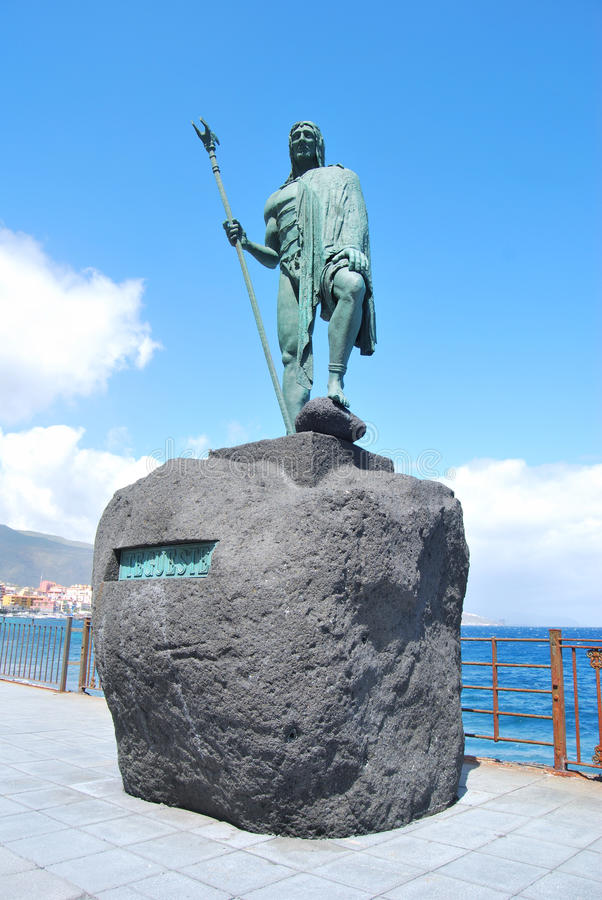 Guanches statue royalty free stock photography