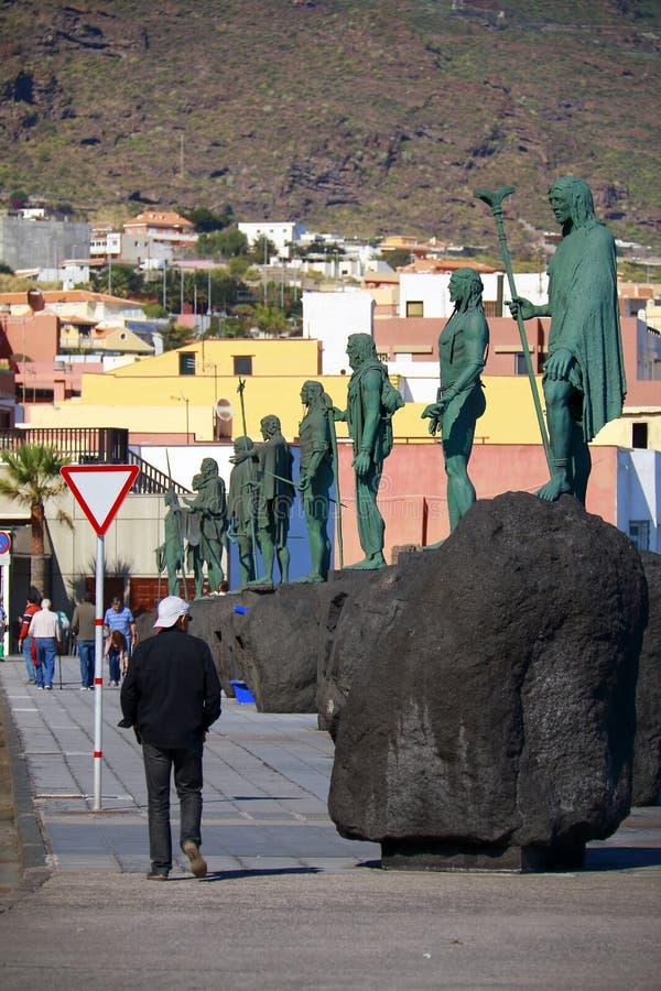 Guanches in Tenerife fotografia stock