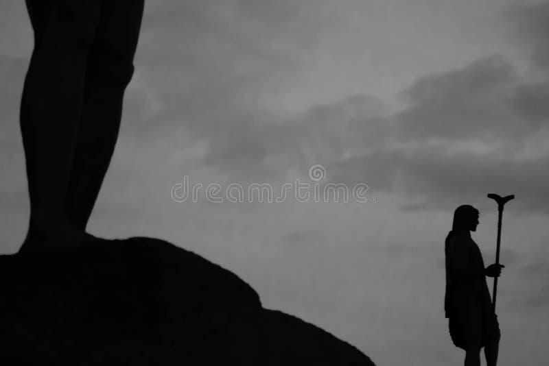 Guancheskoningen in Candelaria royalty-vrije stock afbeelding