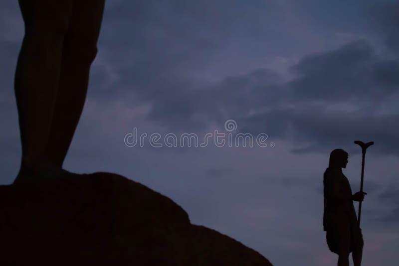 Guancheskoningen in Candelaria stock foto's