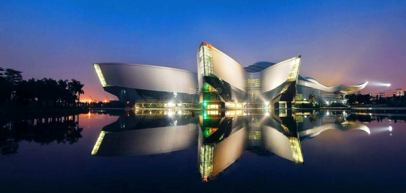Guangdong vetenskapsmitt royaltyfri foto