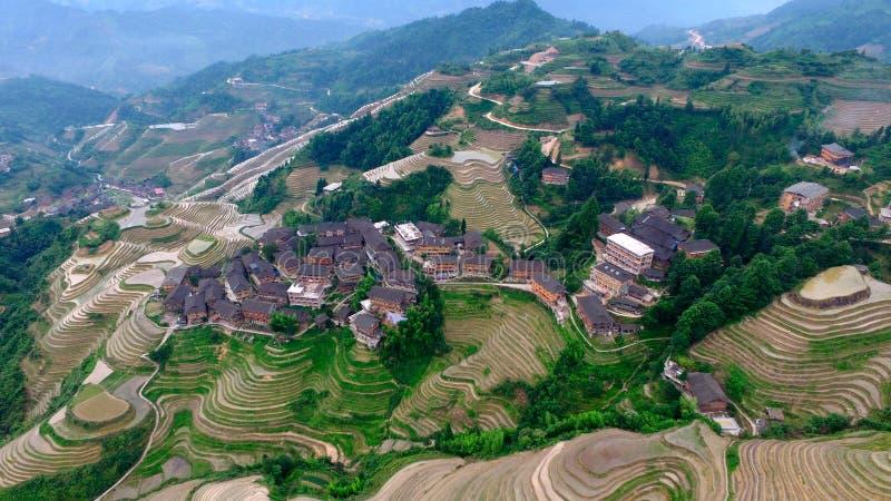 Guangxi Guilin Dragon's back stock image
