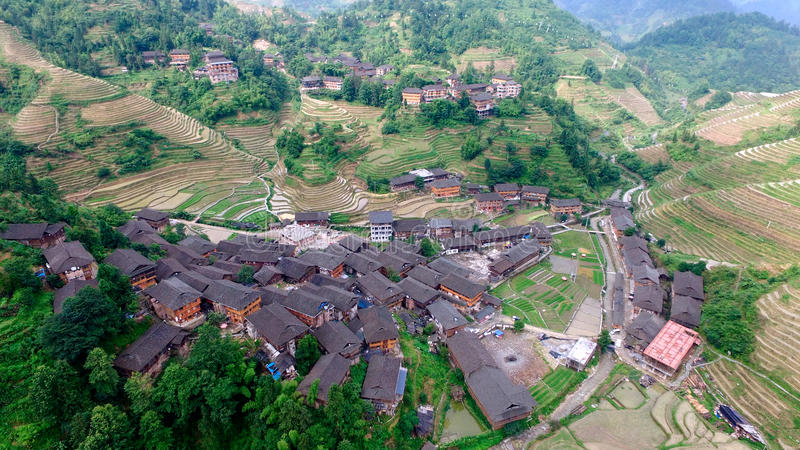 Guangxi Guilin smoka plecy obrazy stock