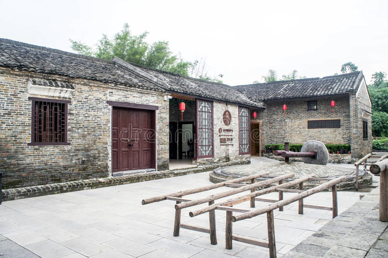 Guangxi province China, famous tourist attractions in Hezhou, Huang Yao ancient town. The family built the courtyard royalty free stock images