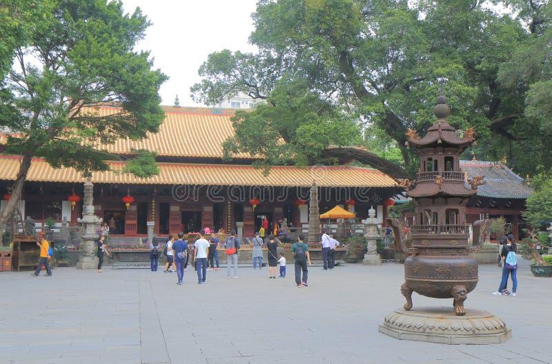Guangxiao Boeddhistische tempel Guangzhou China stock afbeelding