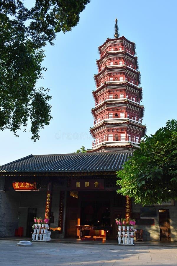 Guangzhou - świątynia Sześć Banyan drzew zdjęcia stock