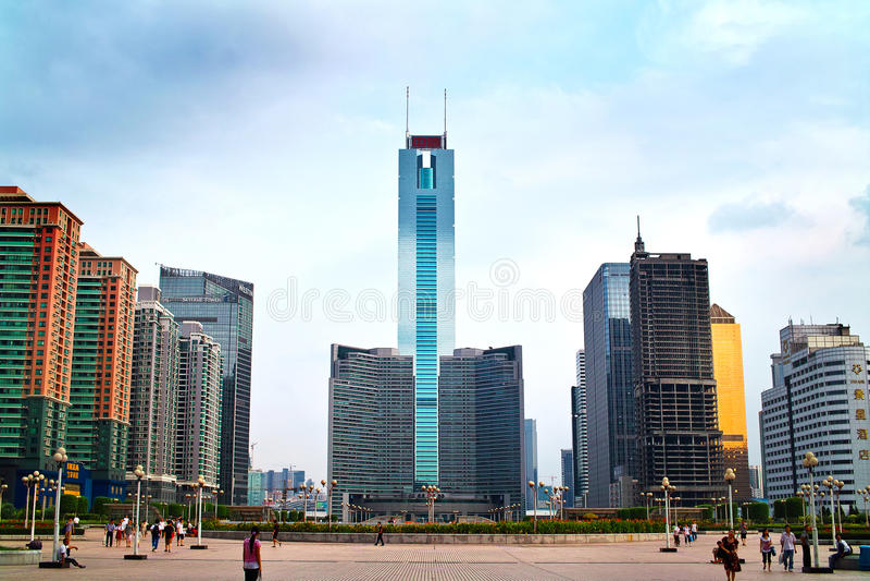 guangzhou πόλεων άξονα στοκ φωτογραφία με δικαίωμα ελεύθερης χρήσης