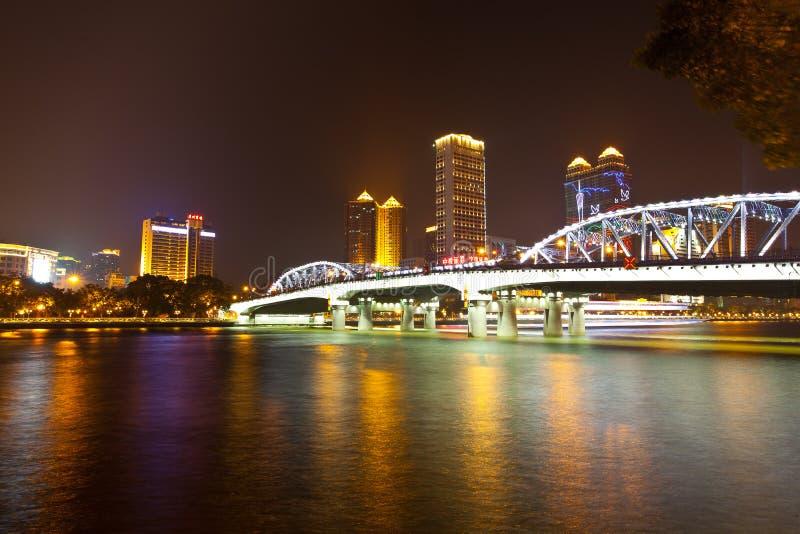 guangzhou bridżowy haizhu fotografia royalty free