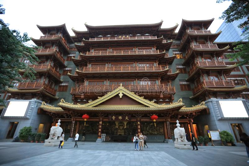 Guangzhou Buddha Duża świątynia Guangzhou, Chiny - fotografia royalty free
