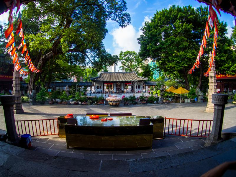 GUANGZHOU, CHINA, August, 2017: Guangxiao Temple one of the oldest Buddhist temples in Guangzhou stock photography