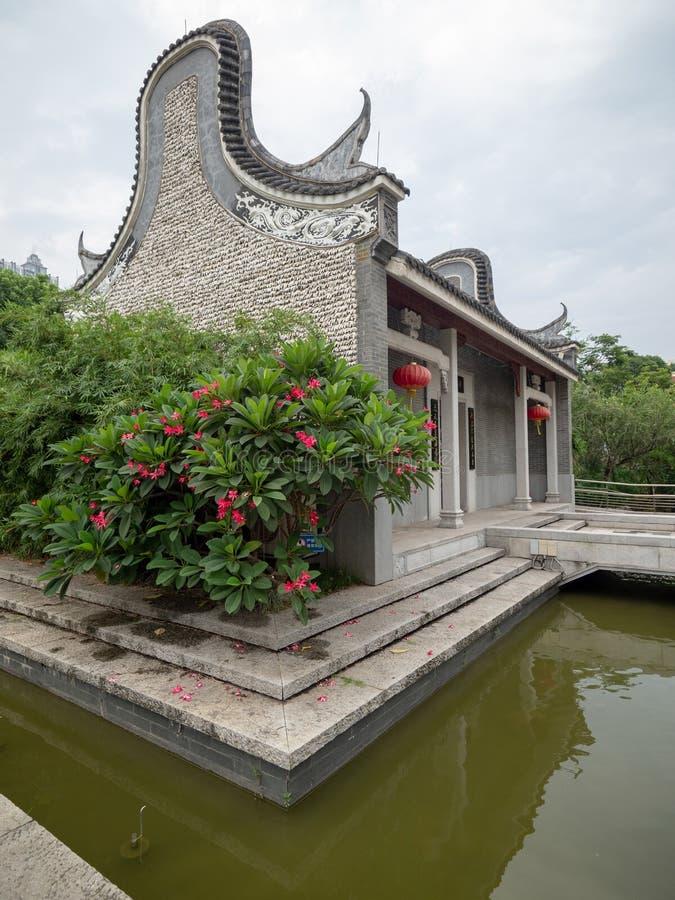 Liede Ancient Temple, Guangzhou, China. Guangzhou/China - August 17 2018: Liede Ancient Temple in Liede district, Guangzhou, China royalty free stock photo