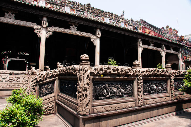 Guangzhou, China, the Chen clan academy of ancient buildings royalty free stock photo