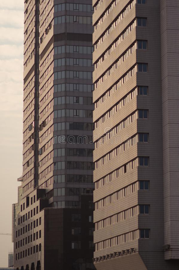 Guangzhou, China - 15 de março de 2016: Vista do arranha-céus na cidade Guangzhou do centro, guangdong, porcelana imagem de stock