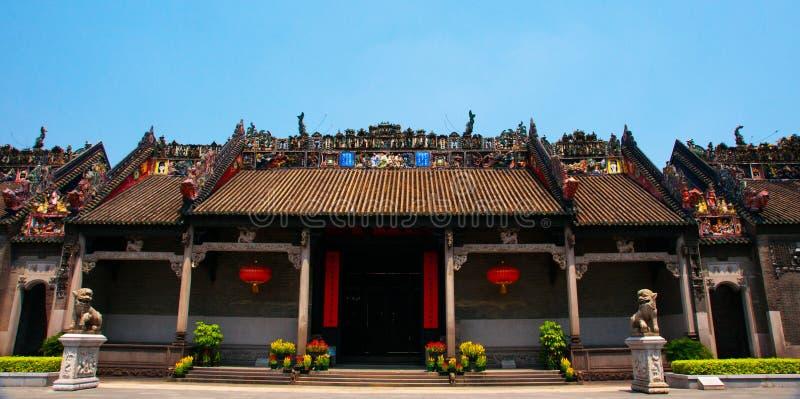 Guangzhou, China, die Chen-Clanakademie von alten Gebäuden stockfotografie