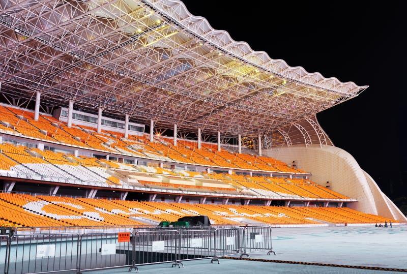 The Asian Games Grandstand of Haixinsha Island, Guangzhou, China stock images