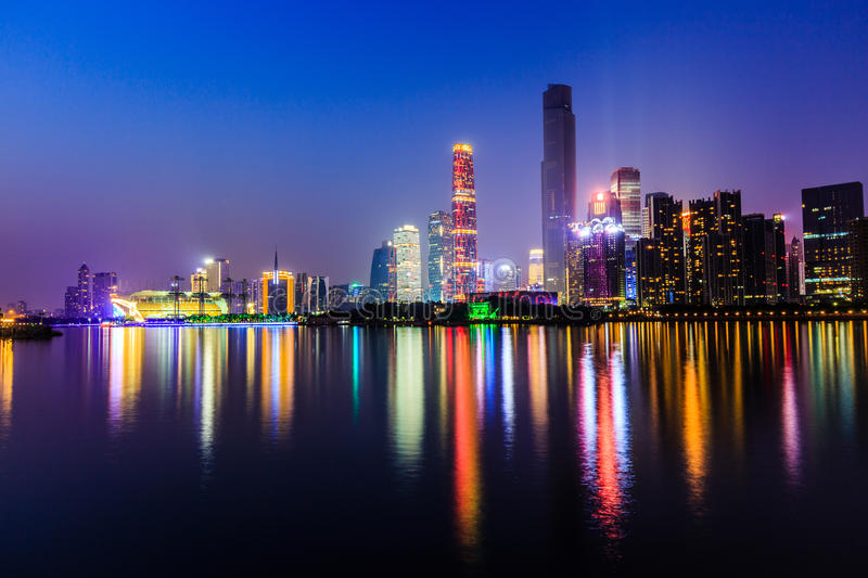 Guangzhou City Night stock photography