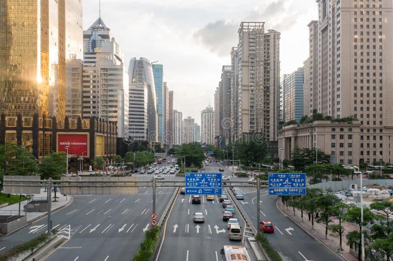 Guangzhou do centro, China fotos de stock