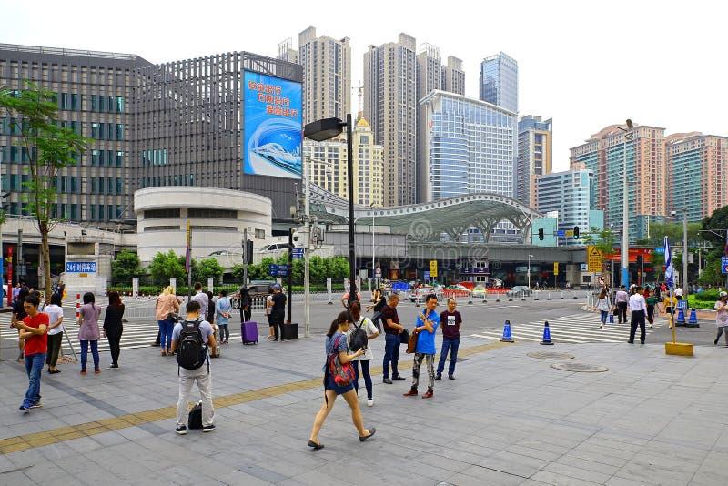 Guangzhou do centro do leste, porcelana fotografia de stock royalty free
