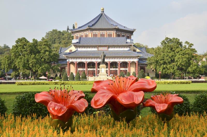 GuangZhou Dr Sun Yat-sen Memorial Hall Grundare kanton arkivfoto