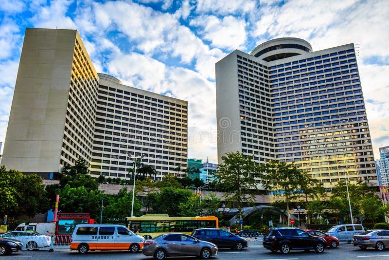 Guangzhou fem stjärnahotell royaltyfria bilder