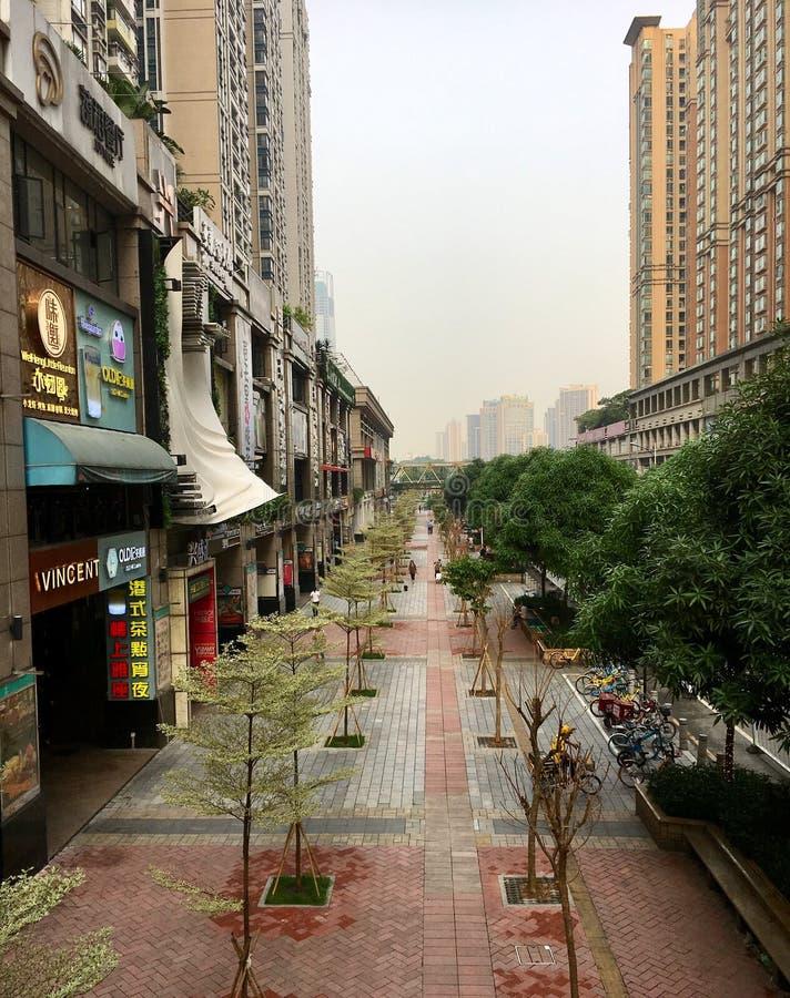 Guangzhou gatasikt arkivfoto