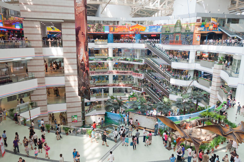 Guangzhou, Grandview Mall stock photo