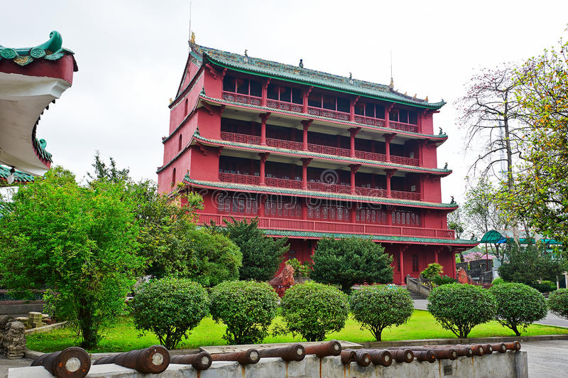 Guangzhou historiemuseum royaltyfria foton