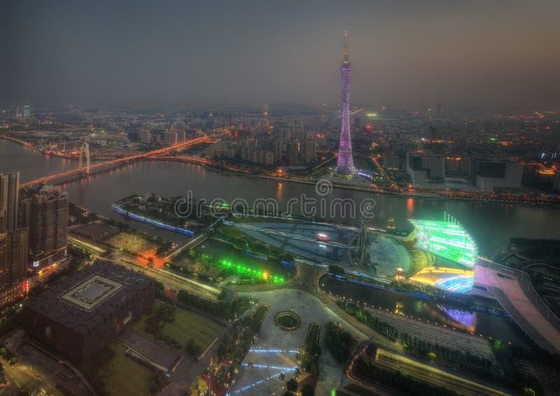 Guangzhou horisont royaltyfri fotografi