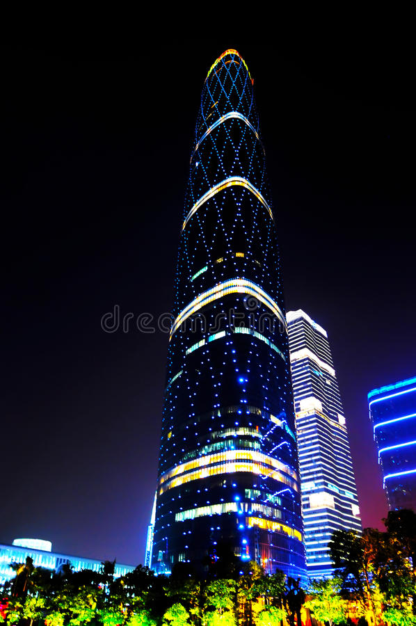The Guangzhou International Finance Center stock images