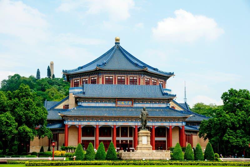Guangzhou Kina, Sun Yat-sen minnes- korridor royaltyfria bilder