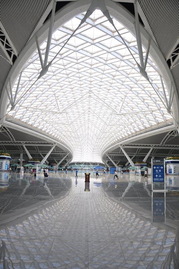 guangzhou kolejowa południe stacja obraz royalty free