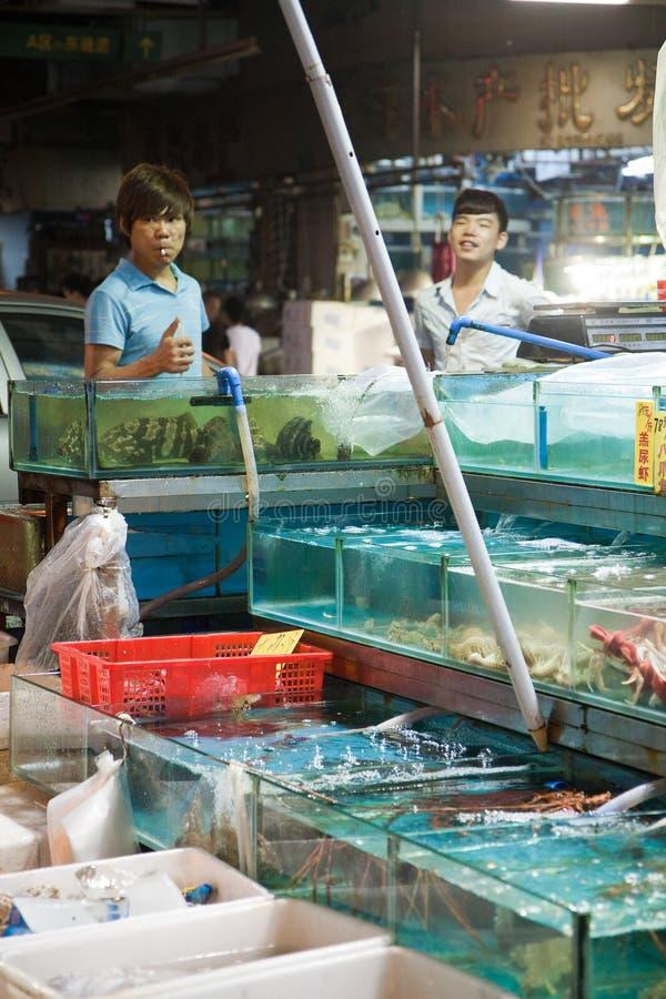 Guangzhou-Meeresfrüchte-Markt lizenzfreies stockbild