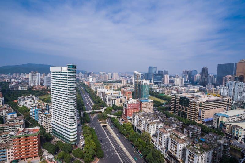 Guangzhou miasta widok w Chiny obrazy stock