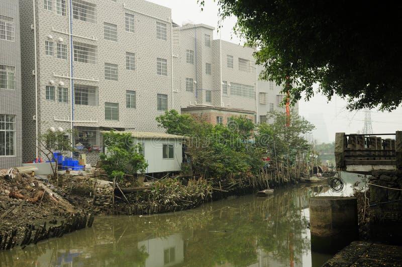 Guangzhou mieszkania blisko nawadniają obraz royalty free