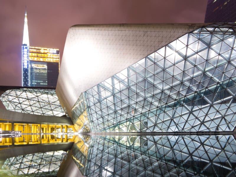 Guangzhou operahus arkivfoton