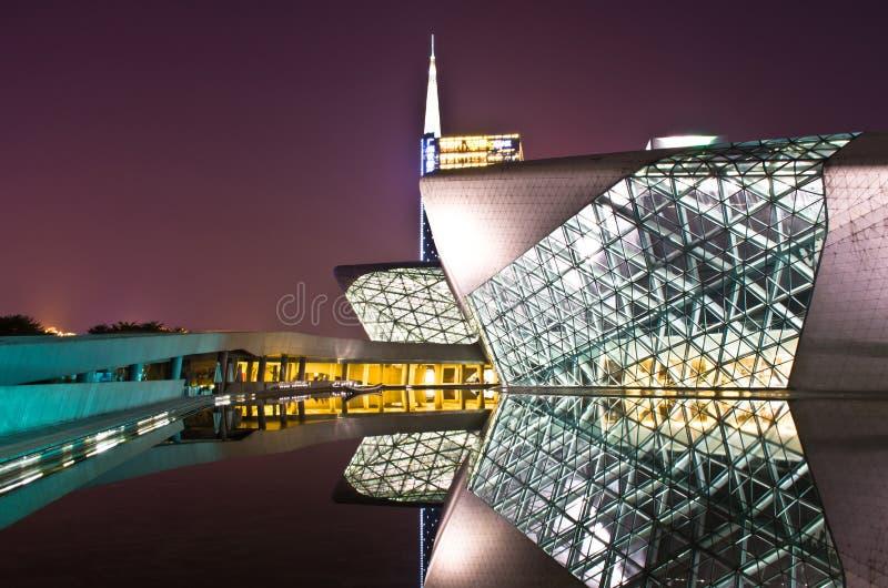 Guangzhou operahus royaltyfri fotografi