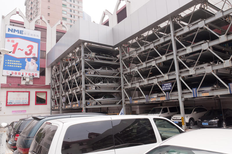 Download Guangzhou parking lots editorial stock photo. Image of crowded - 26159398