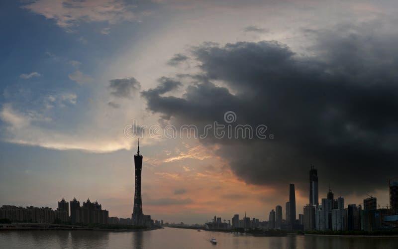 Guangzhou Pearl River royaltyfri fotografi