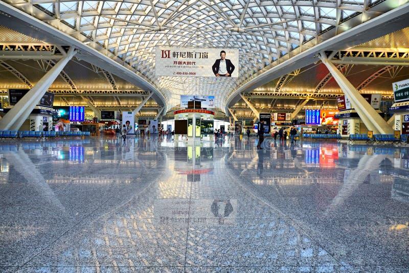 Guangzhou południowa stacja kolejowa, Chiny obrazy stock