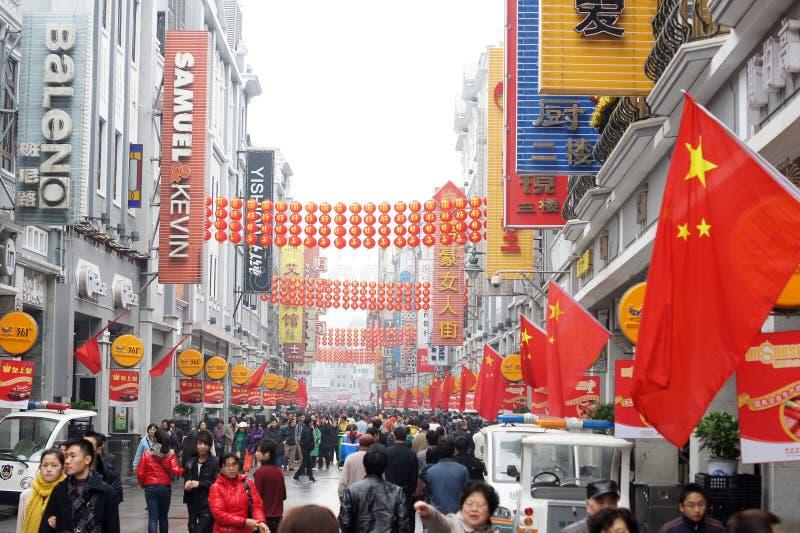 guangzhou porcelanowa handlowa ulica fotografia stock