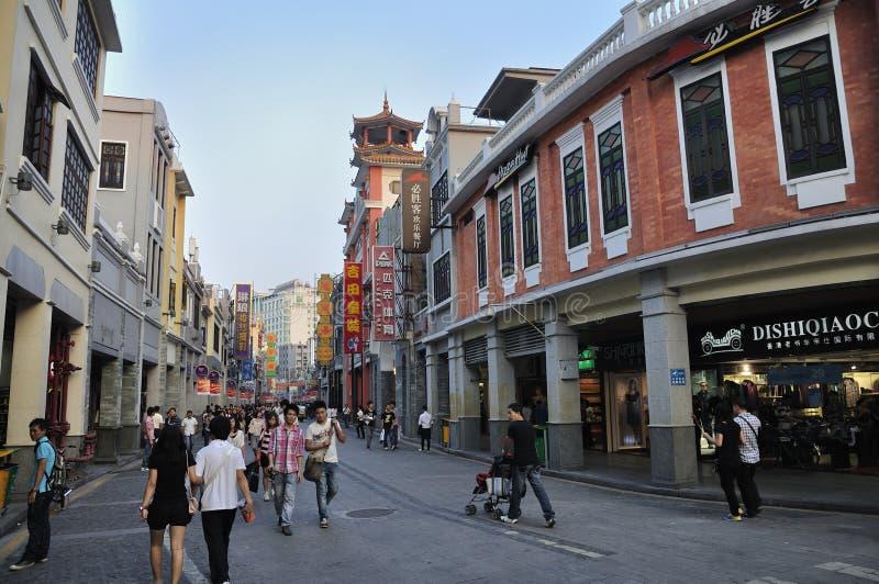 guangzhou porcelanowa handlowa ulica zdjęcie royalty free