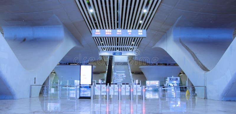 Guangzhou staci kolejowej południowy wyjście obrazy stock