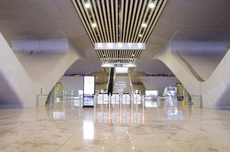Guangzhou staci kolejowej południowy wyjście obraz stock