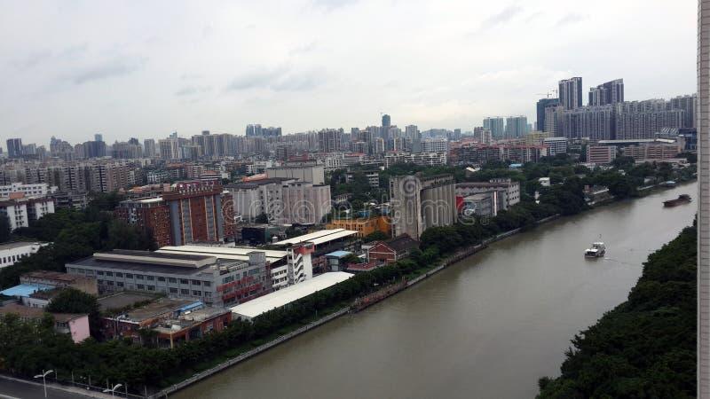 Guangzhou stad panorama1 royaltyfri fotografi