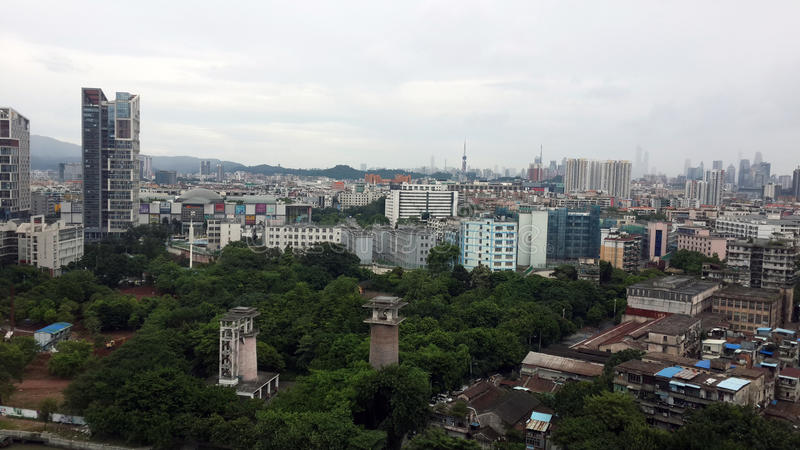 Guangzhou stadspanorama royaltyfria bilder