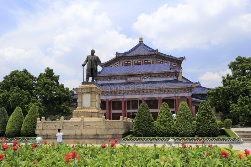 Guangzhou Sun Yat-sen (zhongshan) minnes- korridor royaltyfri foto