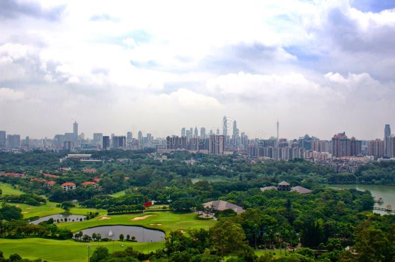 Guangzhou widok od baiyun góry zdjęcie royalty free