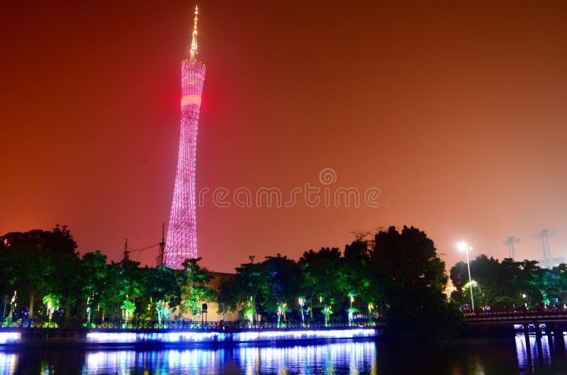 Guangzhoutoren, Kantontoren stock fotografie