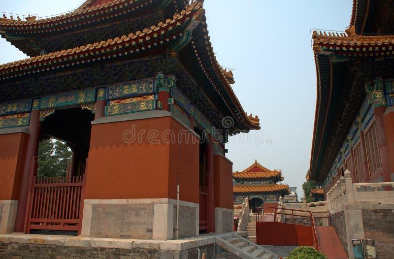 Guanjintempel, Peking, China stock foto's