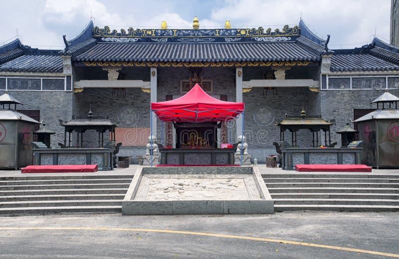 Guanlan Gu Temple in Shenzhen China. The front entrance to Guanlan Gu Si or Guanlan Gu Buddhist temple in Longhua district of Shenzhen China stock image